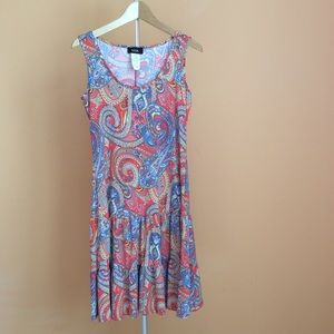 NWT MSK PAISIEY PRINTED TIERED DRESS